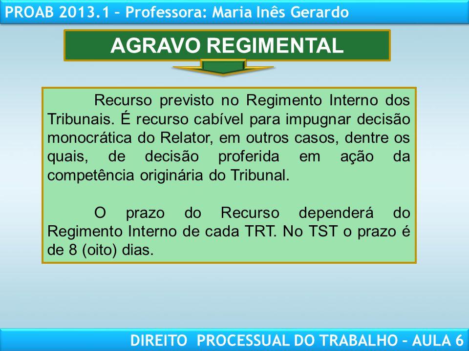 AGRAVO REGIMENTAL