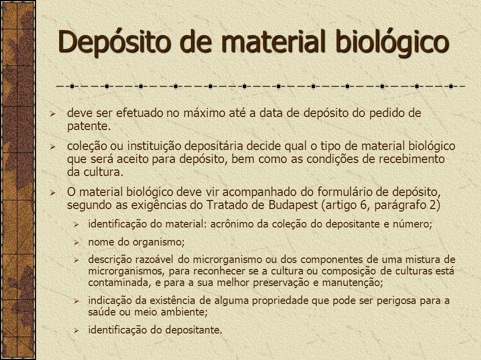 Depósito de material biológico