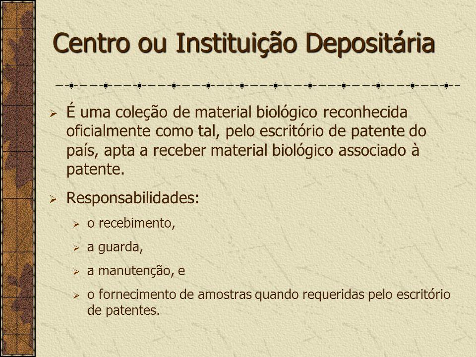 Centro ou Instituição Depositária