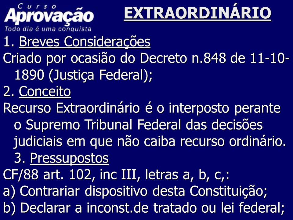 EXTRAORDINÁRIO 1. Breves Considerações