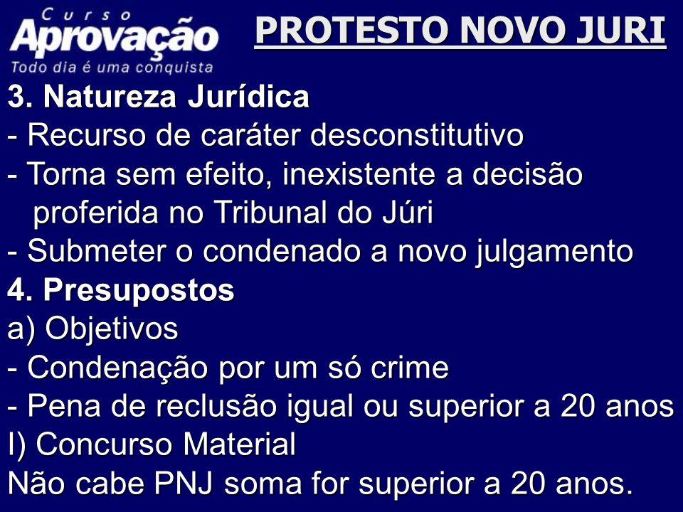 PROTESTO NOVO JURI 3. Natureza Jurídica