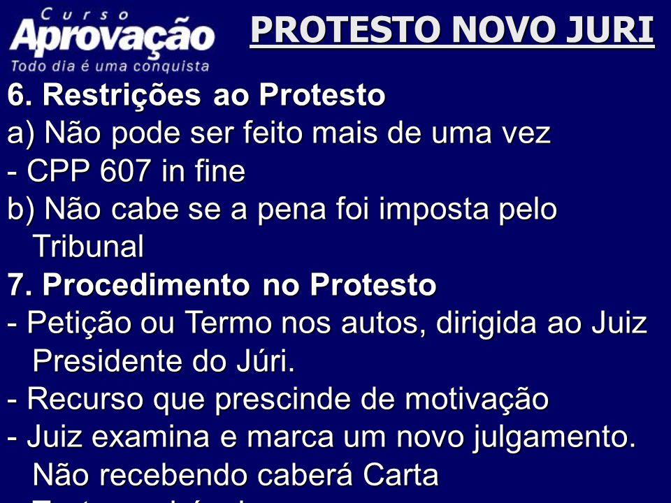 PROTESTO NOVO JURI 6. Restrições ao Protesto