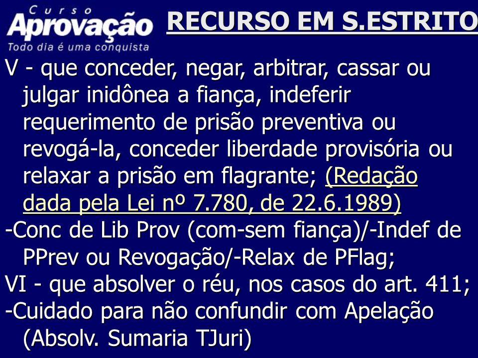 RECURSO EM S.ESTRITO