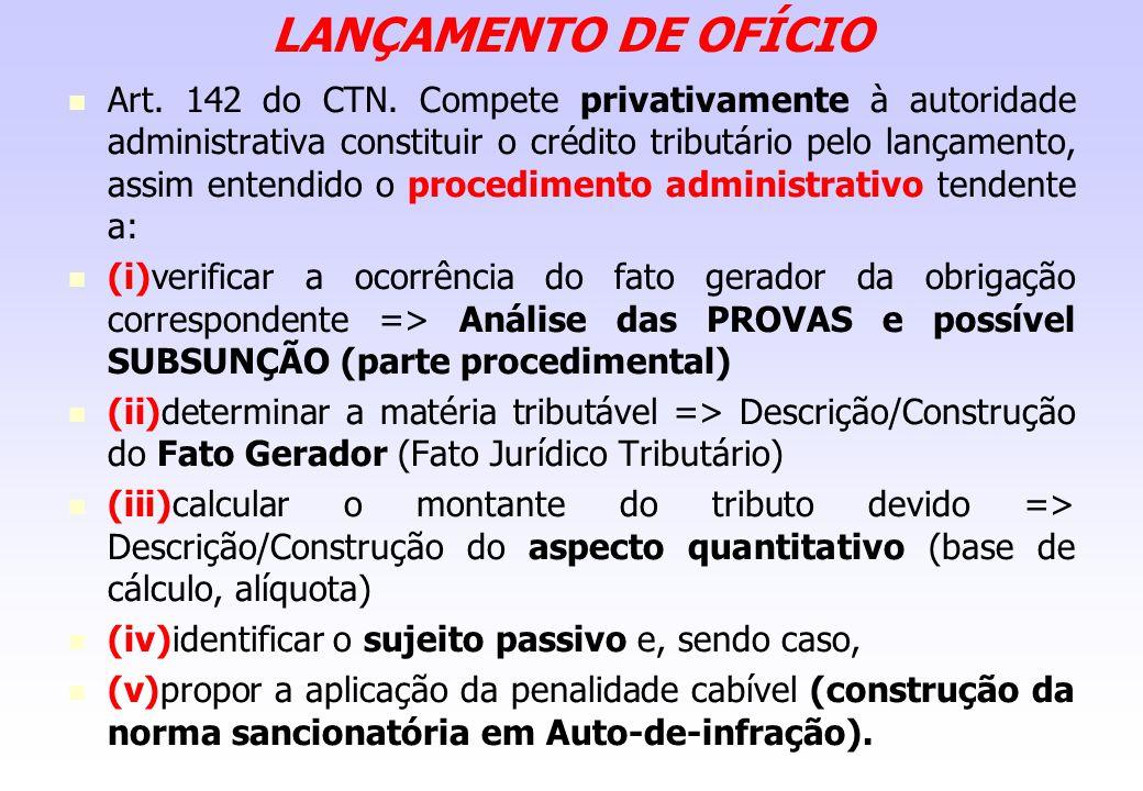 LANÇAMENTO DE OFÍCIO