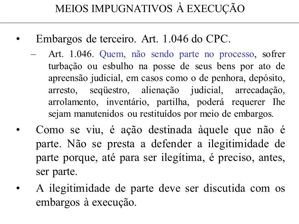MEIOS IMPUGNATIVOS À EXECUÇÃO