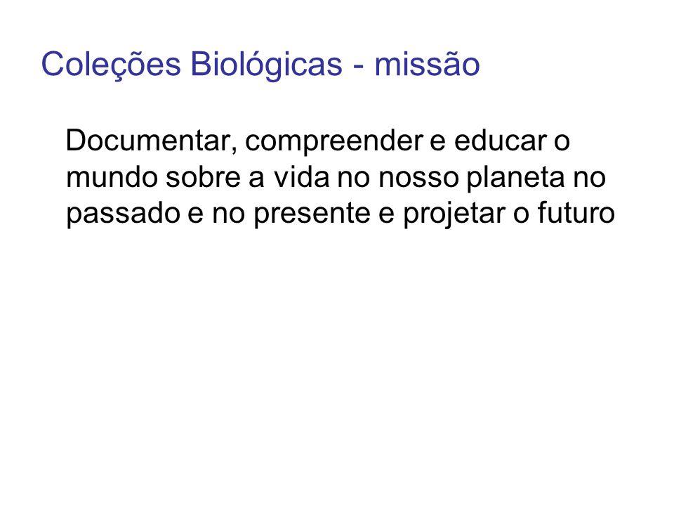 Coleções Biológicas - missão