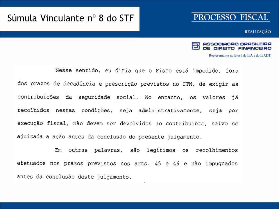 Súmula Vinculante nº 8 do STF