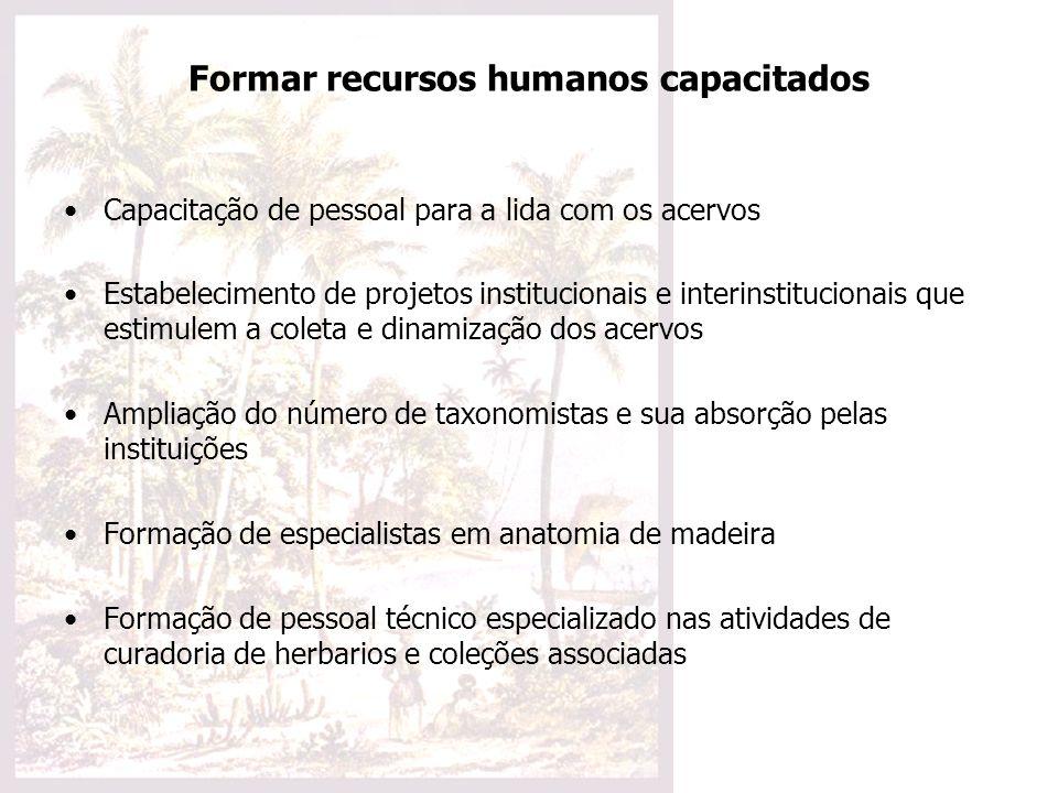 Formar recursos humanos capacitados