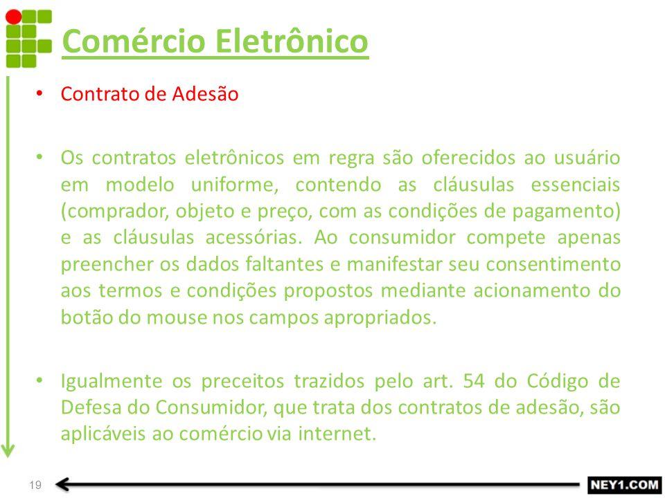 Comércio Eletrônico Contrato de Adesão