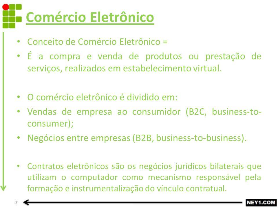 Comércio Eletrônico Conceito de Comércio Eletrônico =