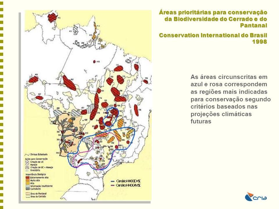 Áreas prioritárias para conservação da Biodiversidade do Cerrado e do Pantanal