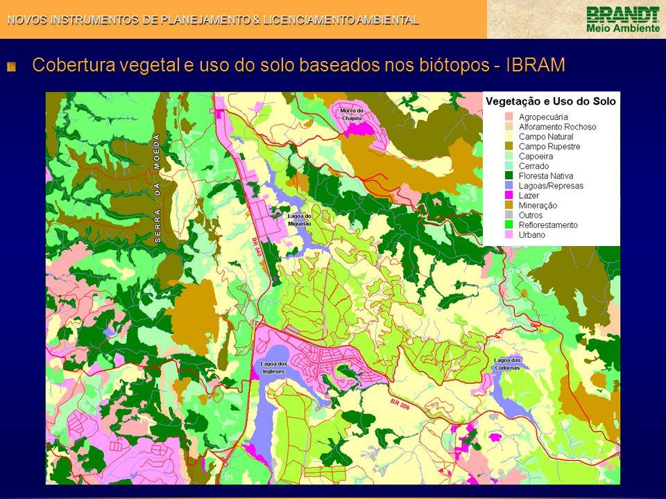 Cobertura vegetal e uso do solo baseados nos biótopos - IBRAM