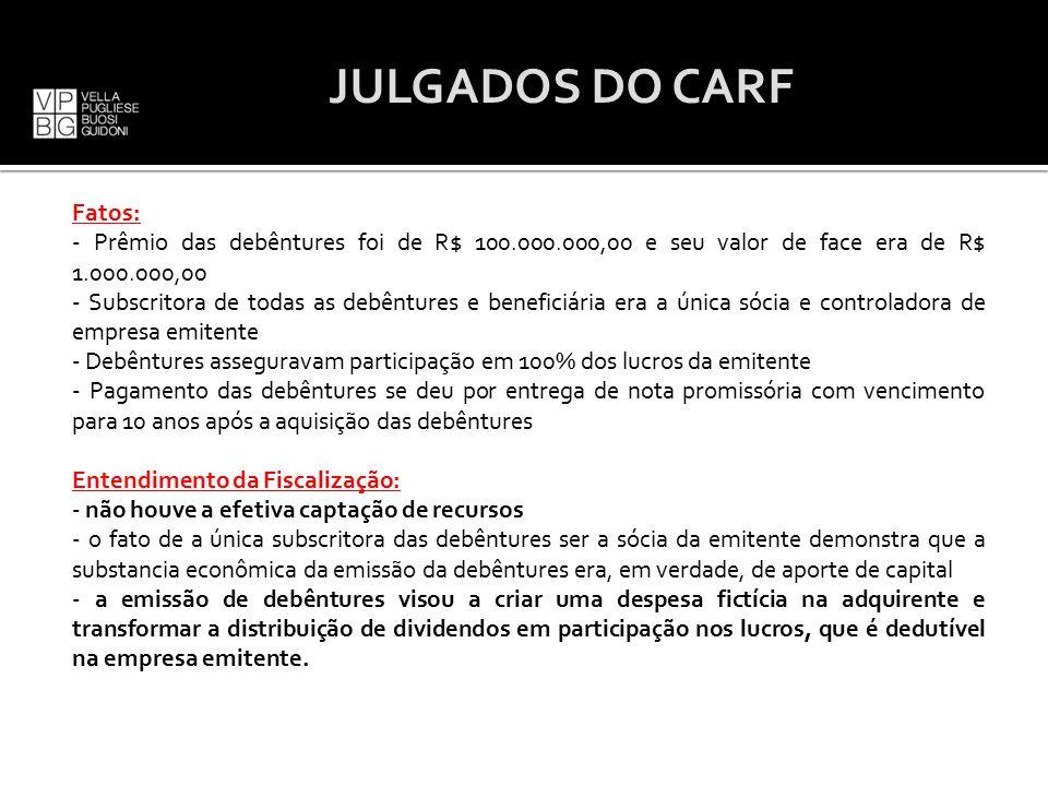 JULGADOS DO CARF
