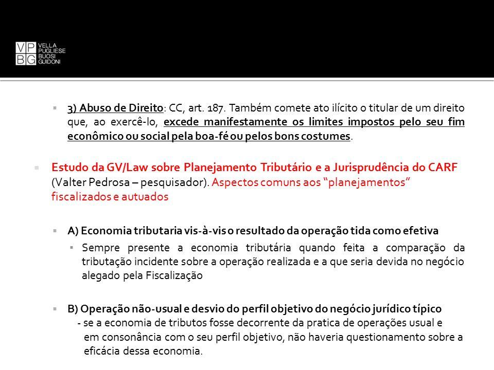 3) Abuso de Direito: CC, art. 187