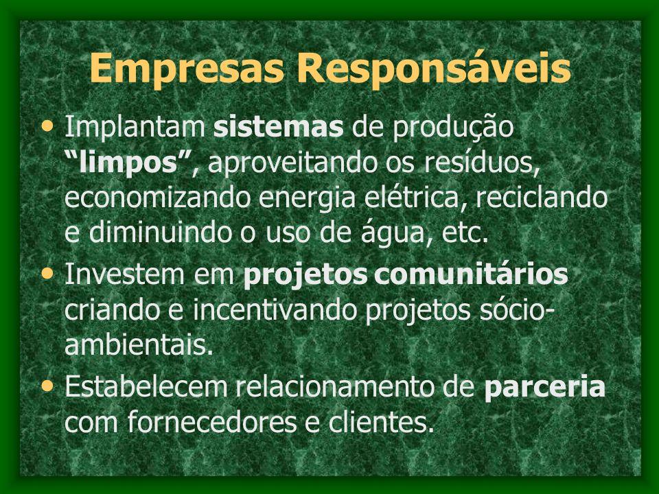 Empresas Responsáveis