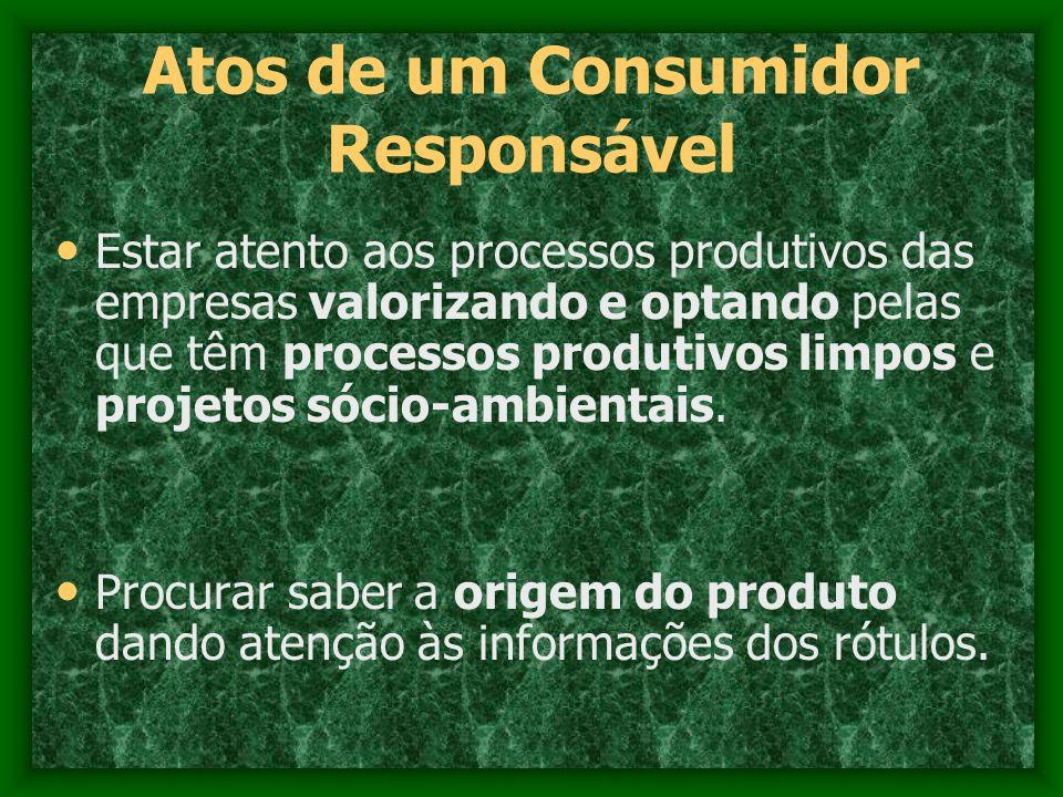 Atos de um Consumidor Responsável