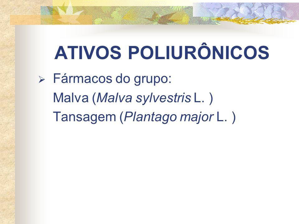 ATIVOS POLIURÔNICOS Fármacos do grupo: Malva (Malva sylvestris L. )