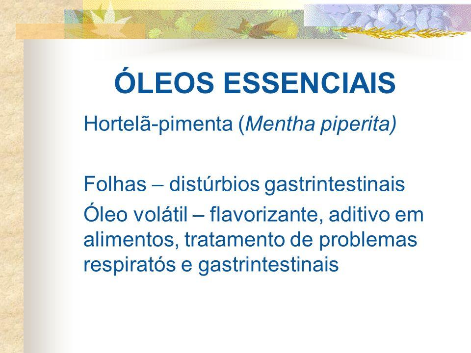 ÓLEOS ESSENCIAIS Hortelã-pimenta (Mentha piperita)