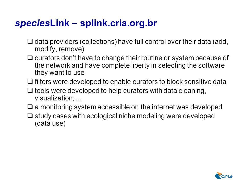 speciesLink – splink.cria.org.br