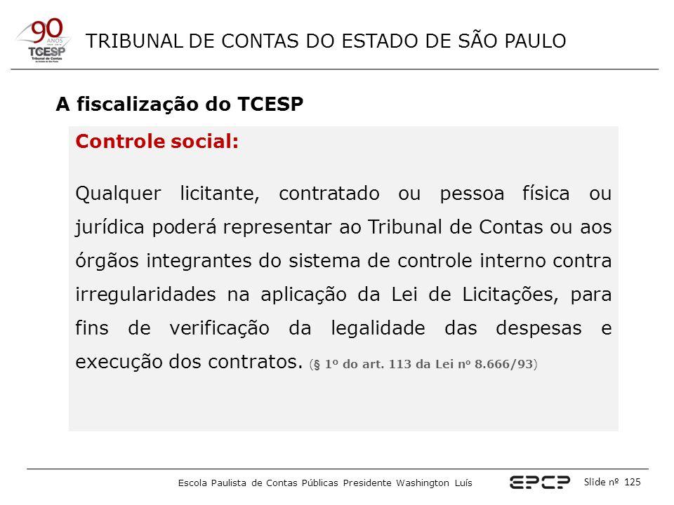 A fiscalização do TCESP