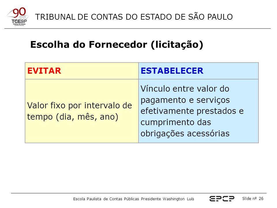 Escolha do Fornecedor (licitação)