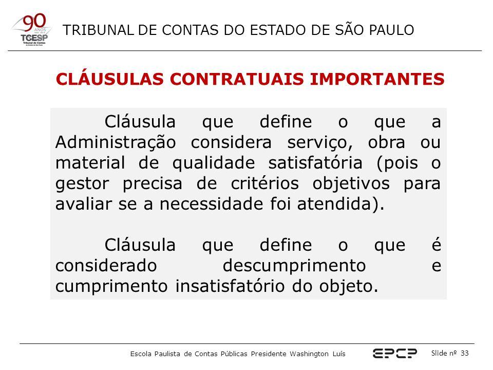 CLÁUSULAS CONTRATUAIS IMPORTANTES