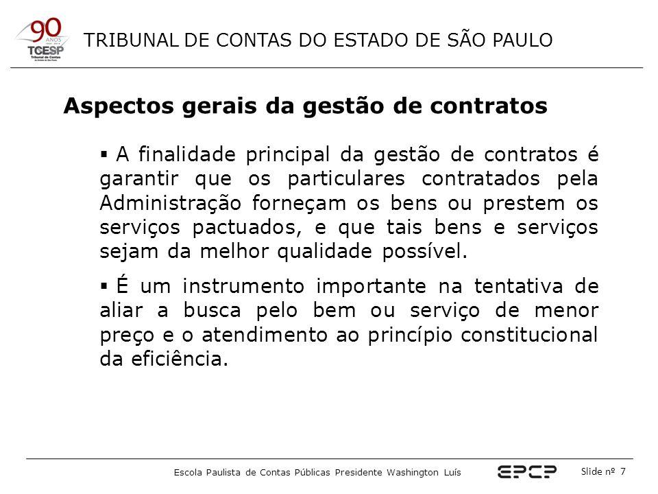 Aspectos gerais da gestão de contratos