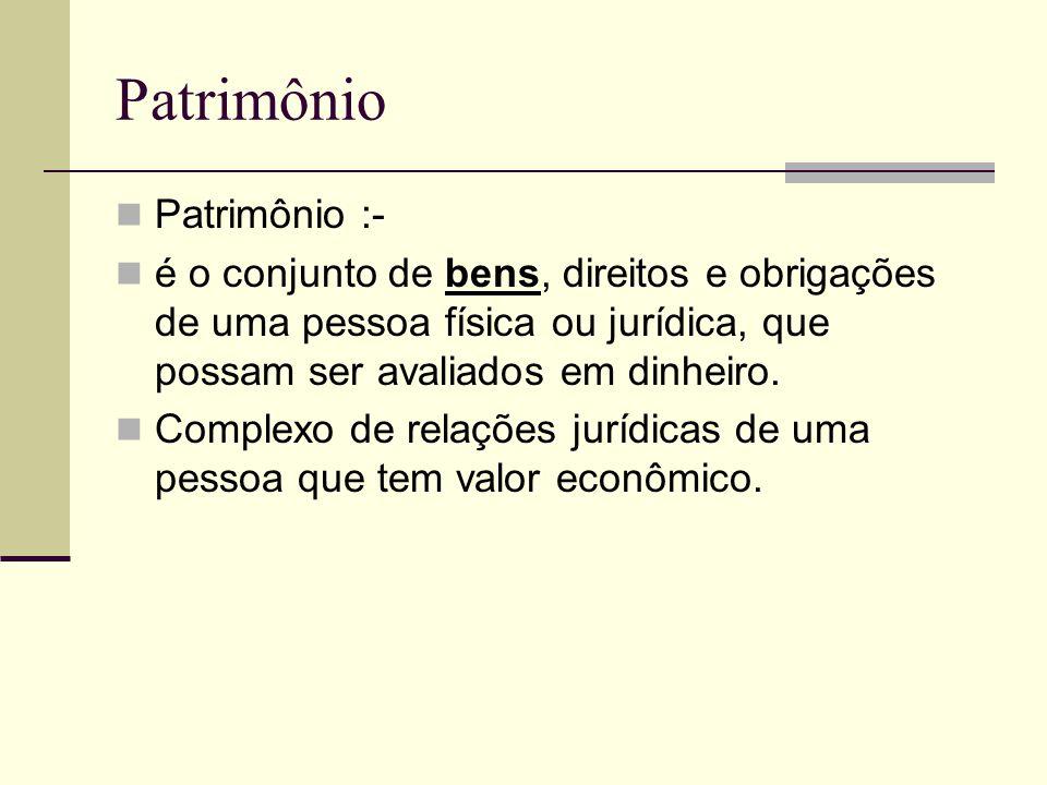 Patrimônio Patrimônio :-