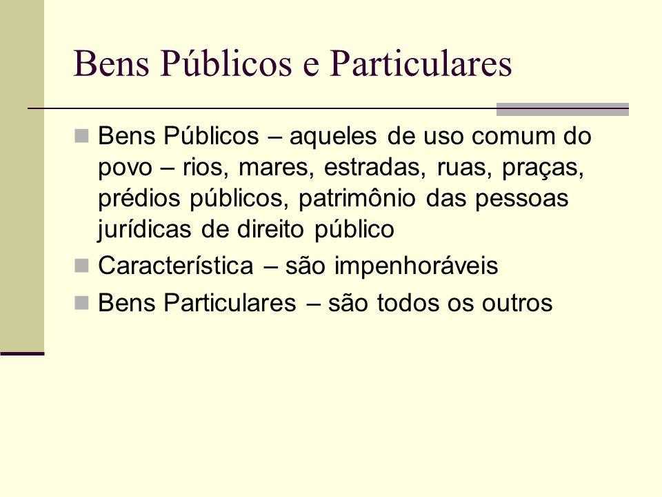 Bens Públicos e Particulares