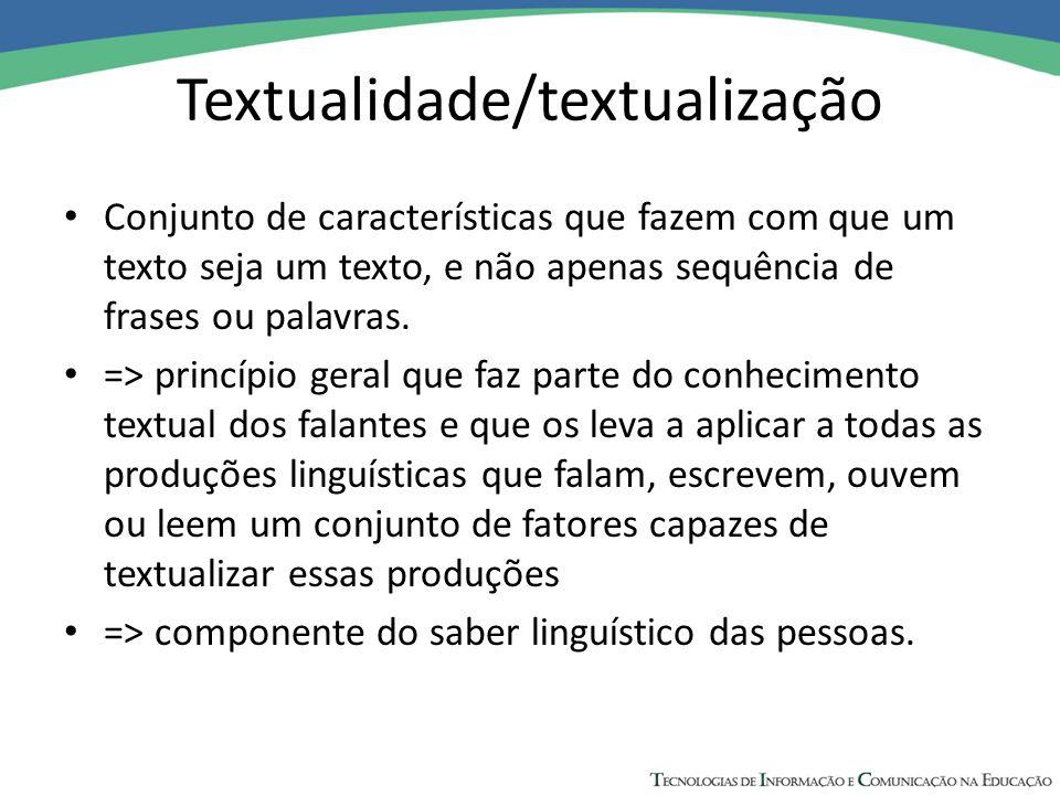 Textualidade/textualização