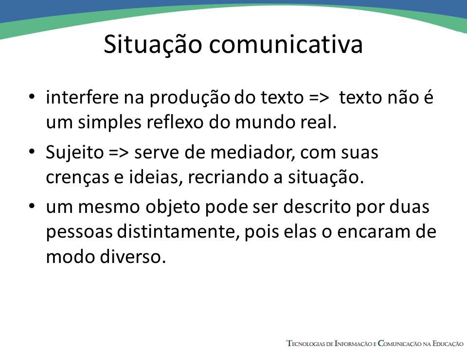Situação comunicativa