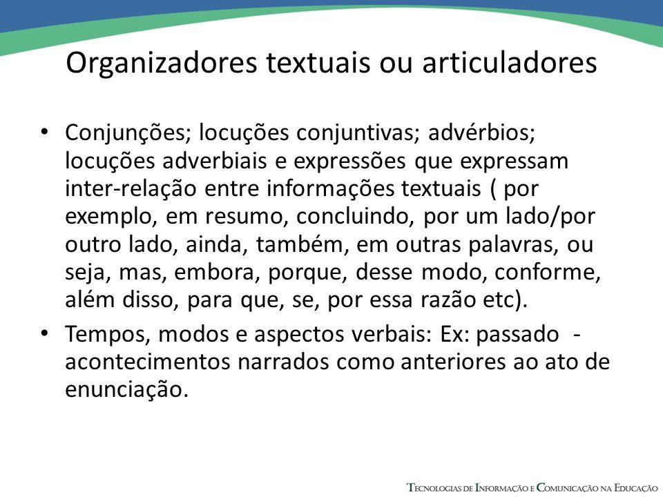 Organizadores textuais ou articuladores