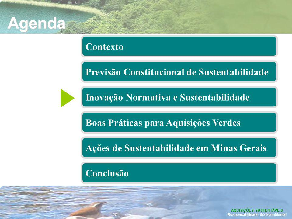 AQUISIÇÕES SUSTENTÁVEIS Responsabilidade Sócioambiental
