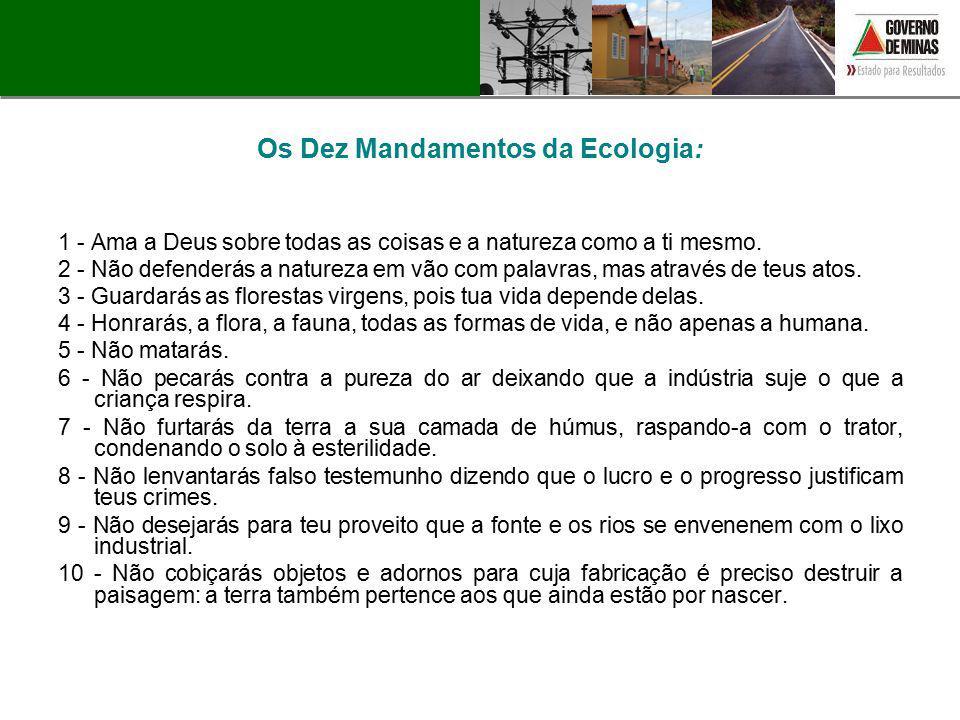 Os Dez Mandamentos da Ecologia: