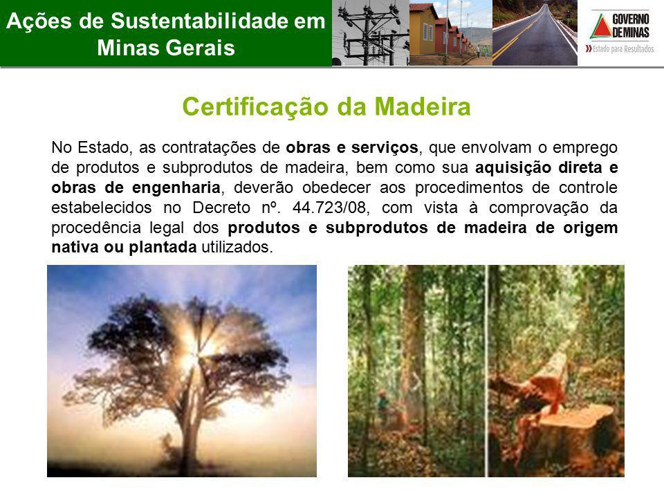 Ações de Sustentabilidade em Minas Gerais