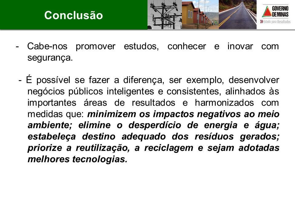 Conclusão - Cabe-nos promover estudos, conhecer e inovar com segurança.