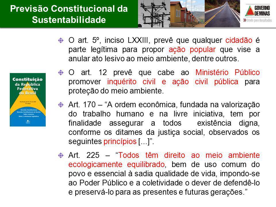 Previsão Constitucional da Sustentabilidade