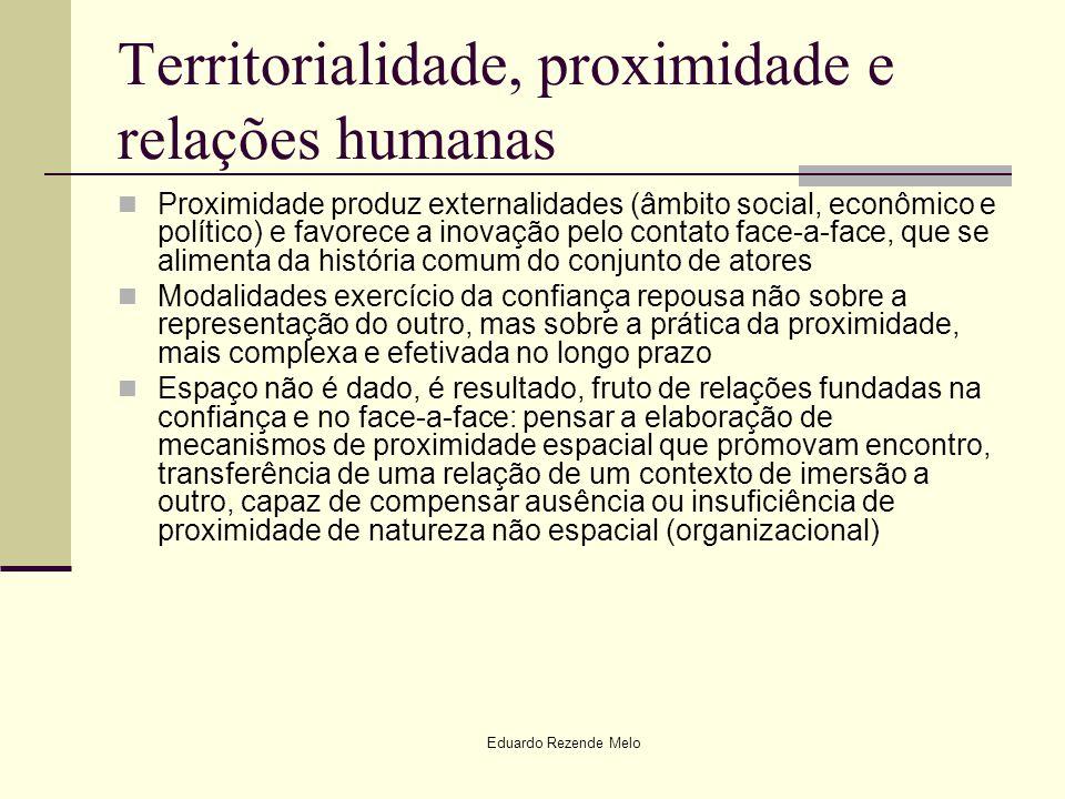 Territorialidade, proximidade e relações humanas
