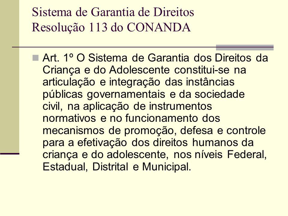Sistema de Garantia de Direitos Resolução 113 do CONANDA