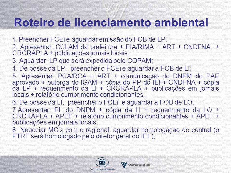 Roteiro de licenciamento ambiental