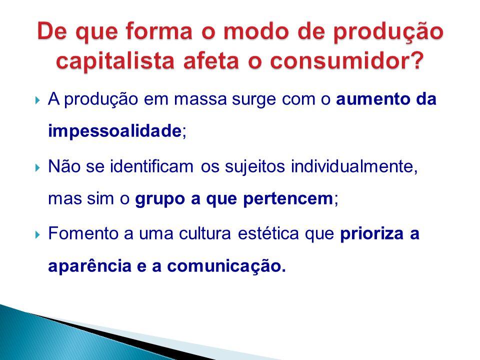 De que forma o modo de produção capitalista afeta o consumidor
