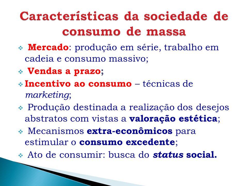 Características da sociedade de consumo de massa