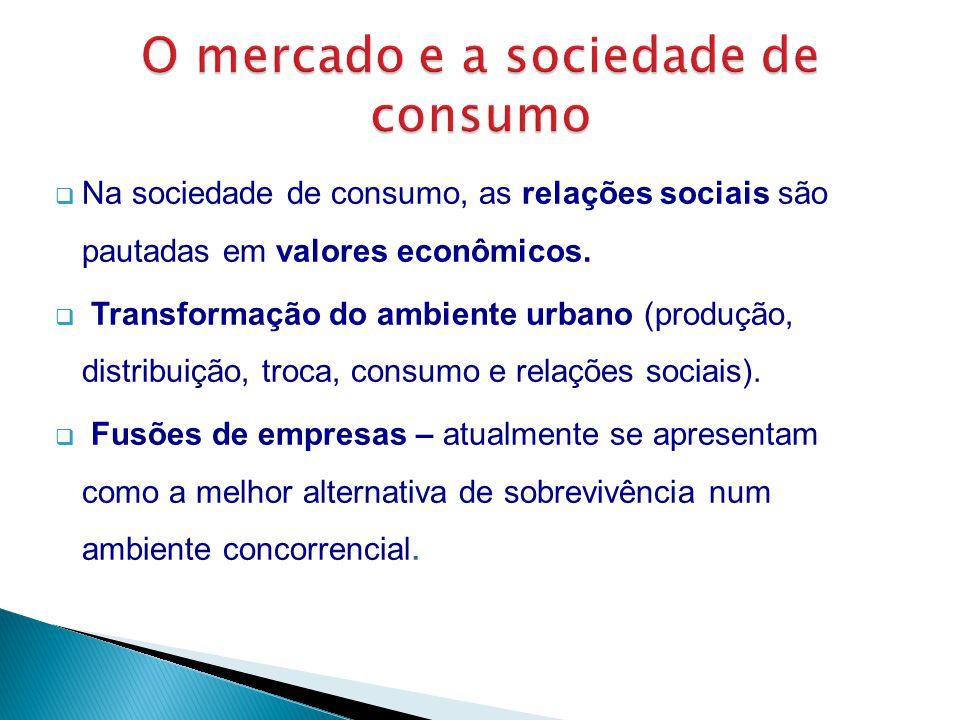 O mercado e a sociedade de consumo