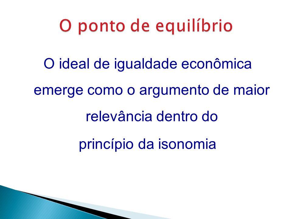 O ponto de equilíbrio O ideal de igualdade econômica emerge como o argumento de maior relevância dentro do princípio da isonomia
