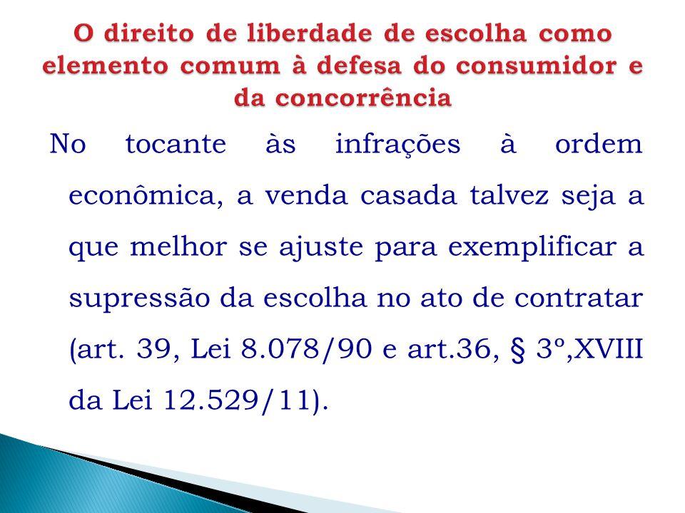 O direito de liberdade de escolha como elemento comum à defesa do consumidor e da concorrência