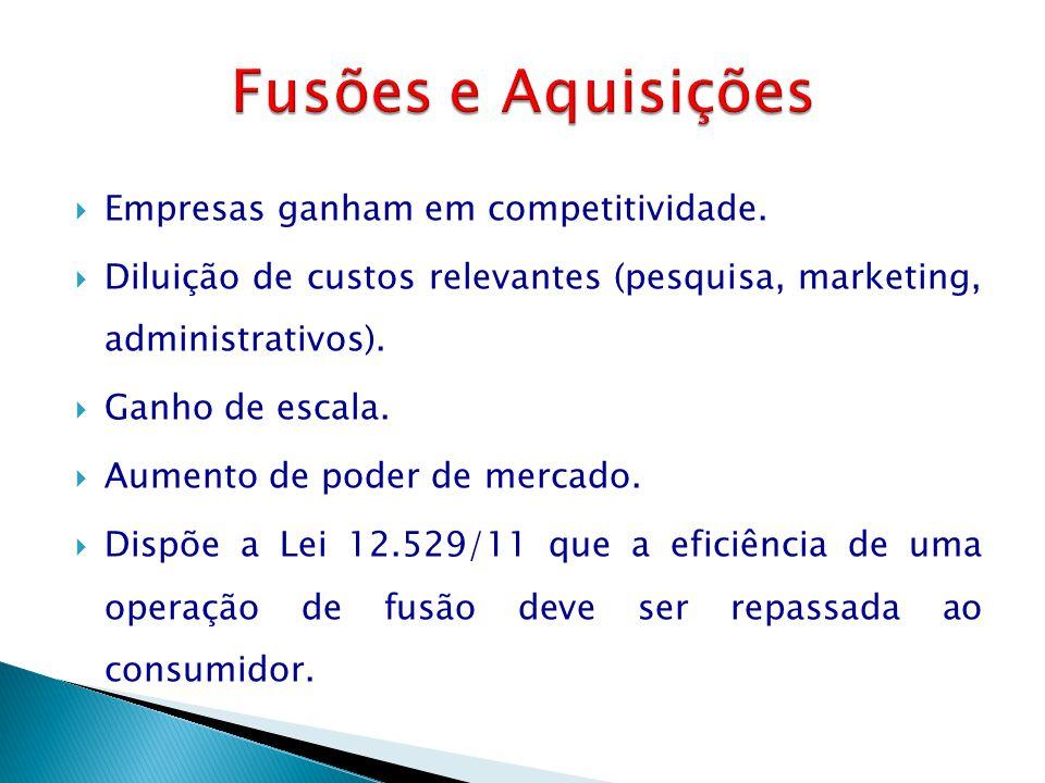 Fusões e Aquisições Empresas ganham em competitividade.