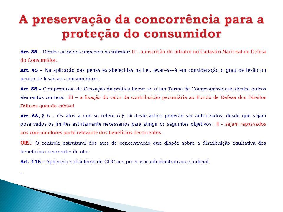 A preservação da concorrência para a proteção do consumidor