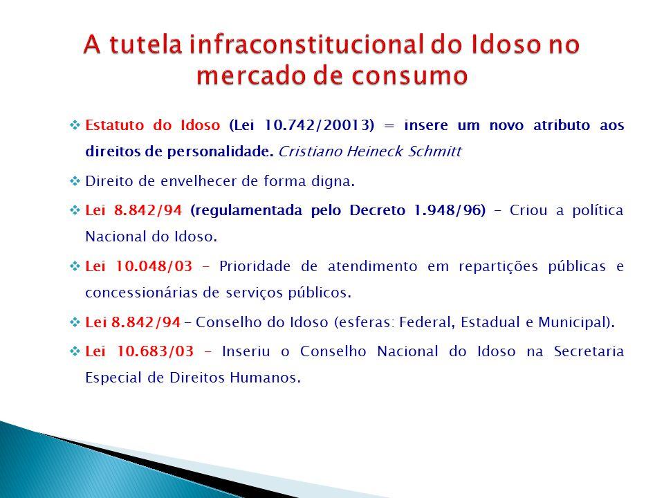 A tutela infraconstitucional do Idoso no mercado de consumo