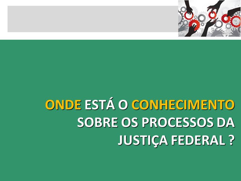 ONDE ESTÁ O CONHECIMENTO SOBRE OS PROCESSOS DA JUSTIÇA FEDERAL