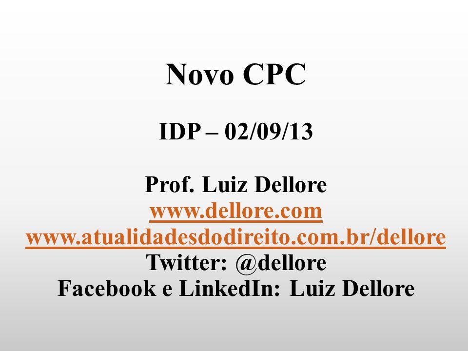 Facebook e LinkedIn: Luiz Dellore